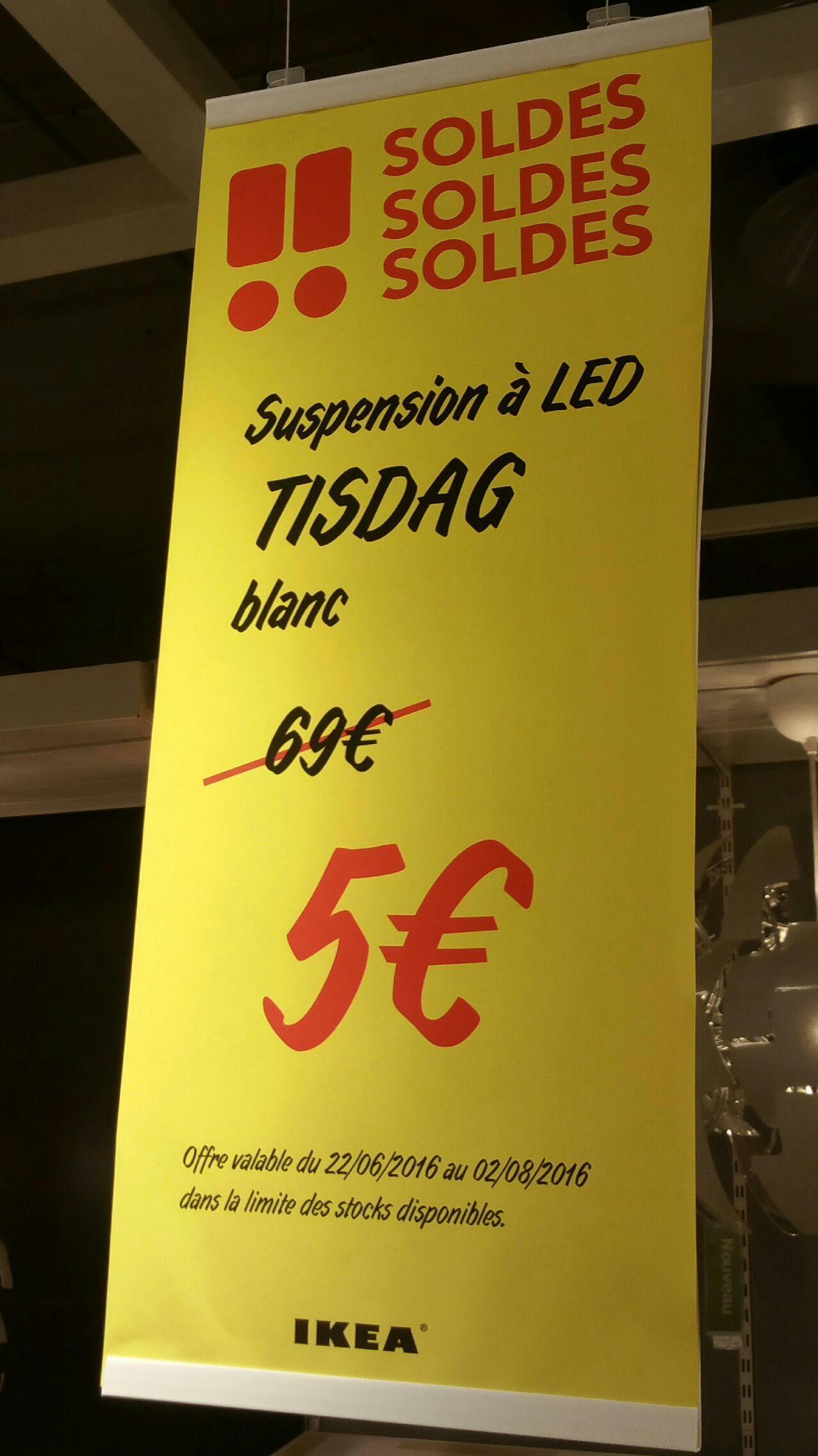 Suspension à LED Tisdag - Blanc