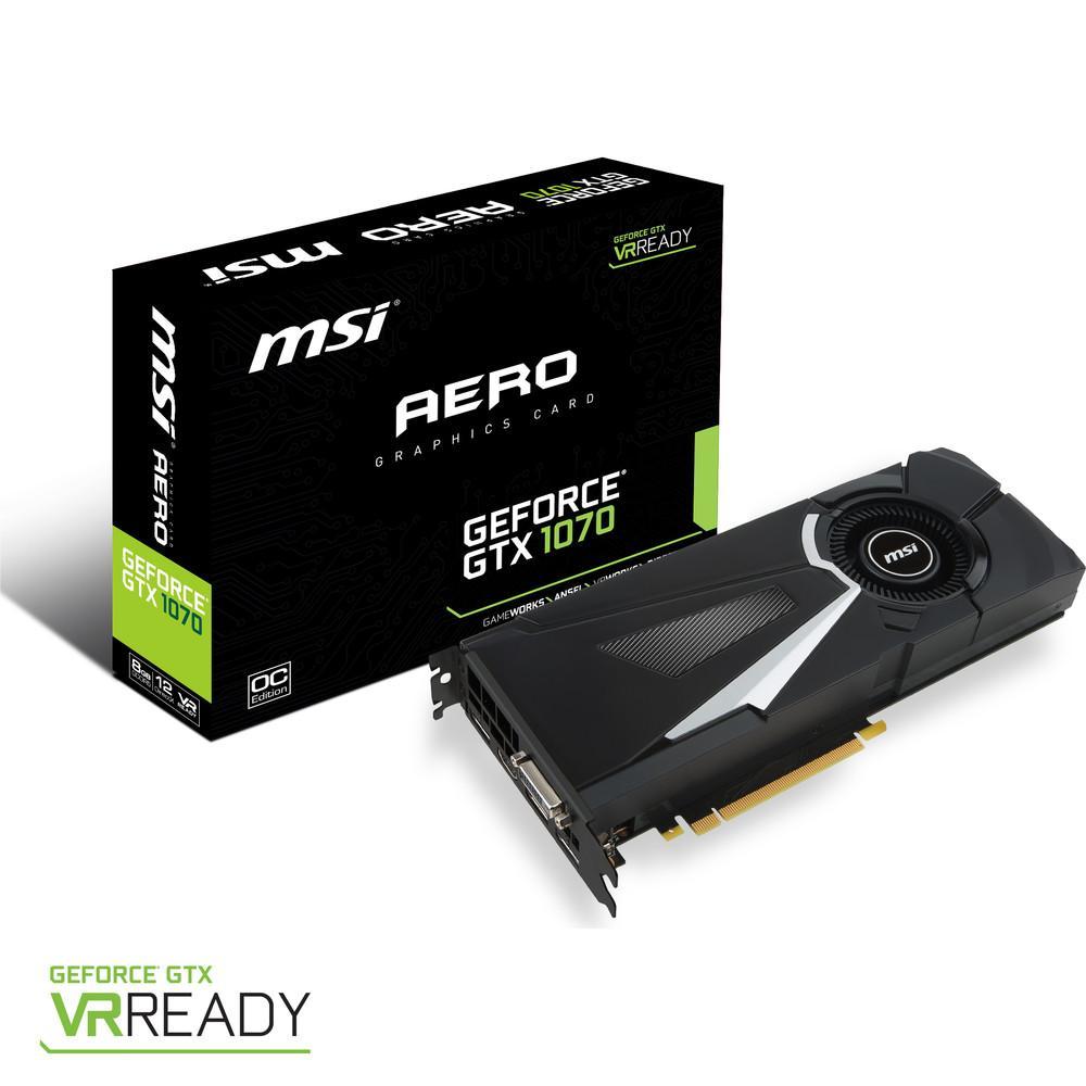 [MàJ du 06/07/2016] MSI GeForce GTX 1070 AERO 8G OC