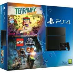 Pack console Sony PS4 (500 Go) + Tearaway Unfolded + Lego Jurassic World