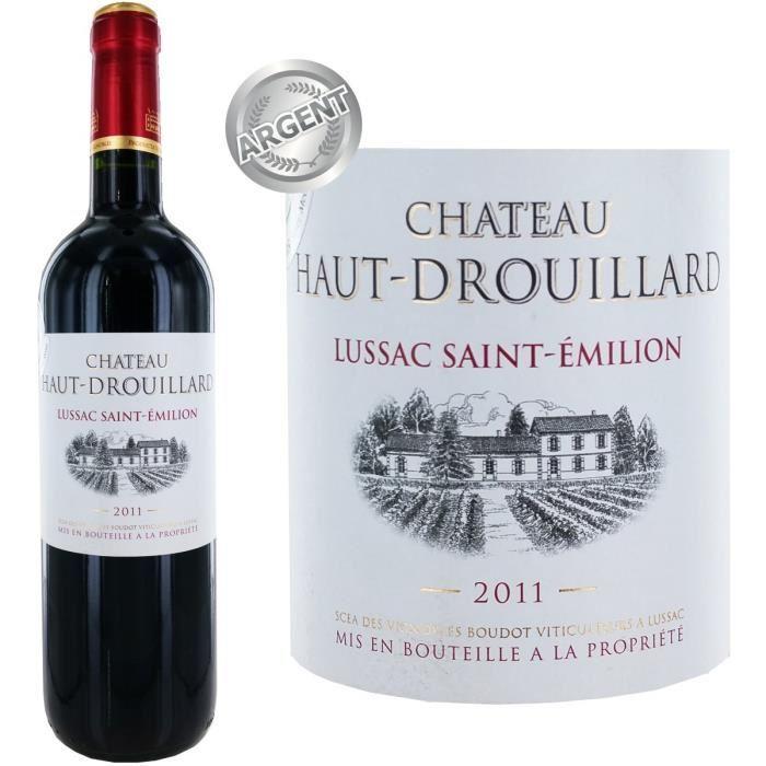 Bouteille de vin rouge Château Haut Drouillard Lussac Saint Emilion 2011 (75cl)