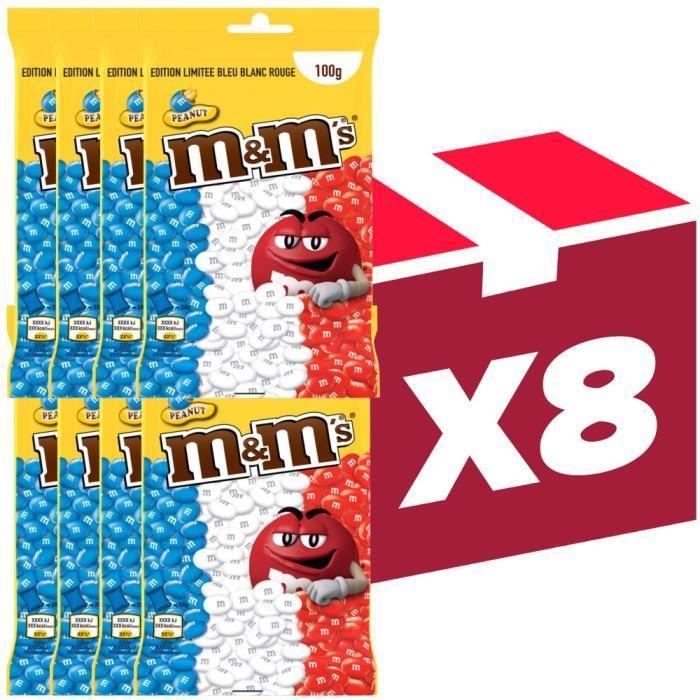 Lot de 8 paquets de M&M's - Édition Limitée Euro 2016 (100 g)