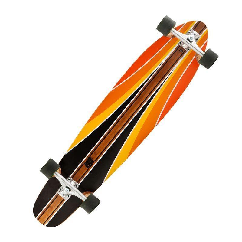 Longboard Bambou Orange et noir Oxelo