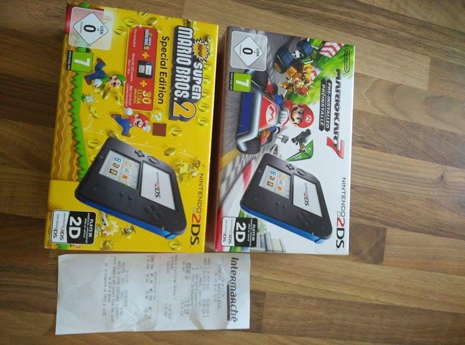 Pack Console Nintendo 2DS avec Mario kart ou Super Mario bros