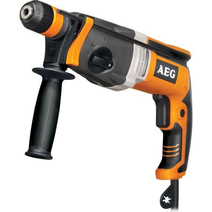 Perforateur SDS Plus AEG Powertools Kh28sxek - 1010W, 3.1J + 3 forets et 2 burins (via ODR de 20€)