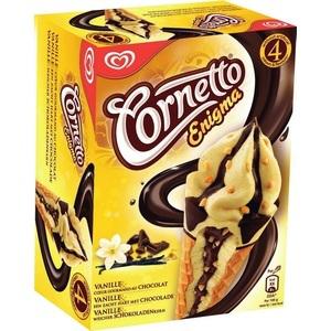 2 lots d'Enigma Cornetto Miko soit 8 glaces