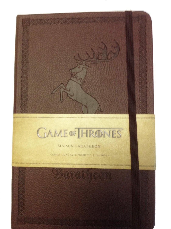 [Panier Plus] Carnet de notes Game of Thrones - maison Baratheon ou maison Targaryen