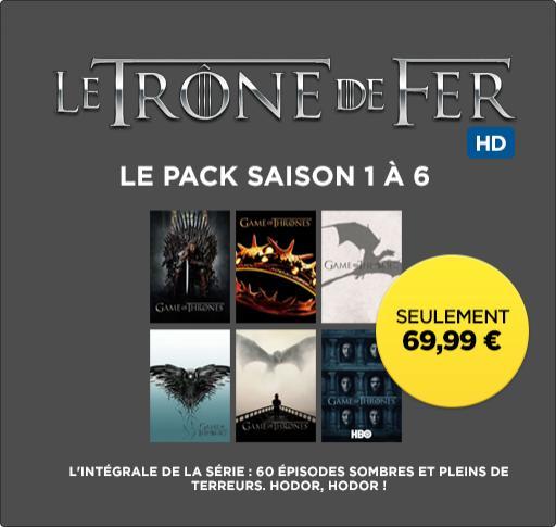 intégrale de la série Game of Thrones (Le trône de fer) - Saisons 1 à 6 (Dématérialisé HD)