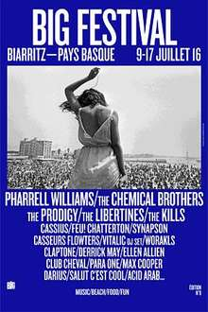 Pass 4 jours Big Festival à Biarritz du 12/07 au 16/07