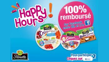 Happy hours Florette 100% remboursé