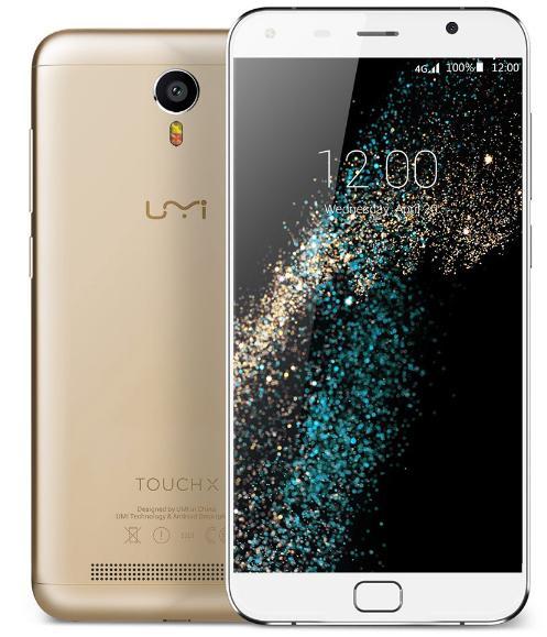 "Smartphone 5.5"" Umi Touch X Gold - RAM 2 Go, ROM 16 Go"