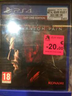 Metal Gear V Phantom Pain - Edition Day One sur PS4 (occasion)