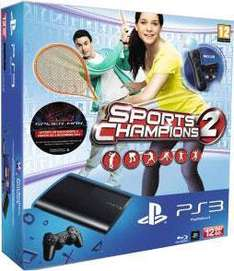 Console Sony PS3 Ultra-Slim (12 Go) + Sports Champion 2 + pack découverte PS Move