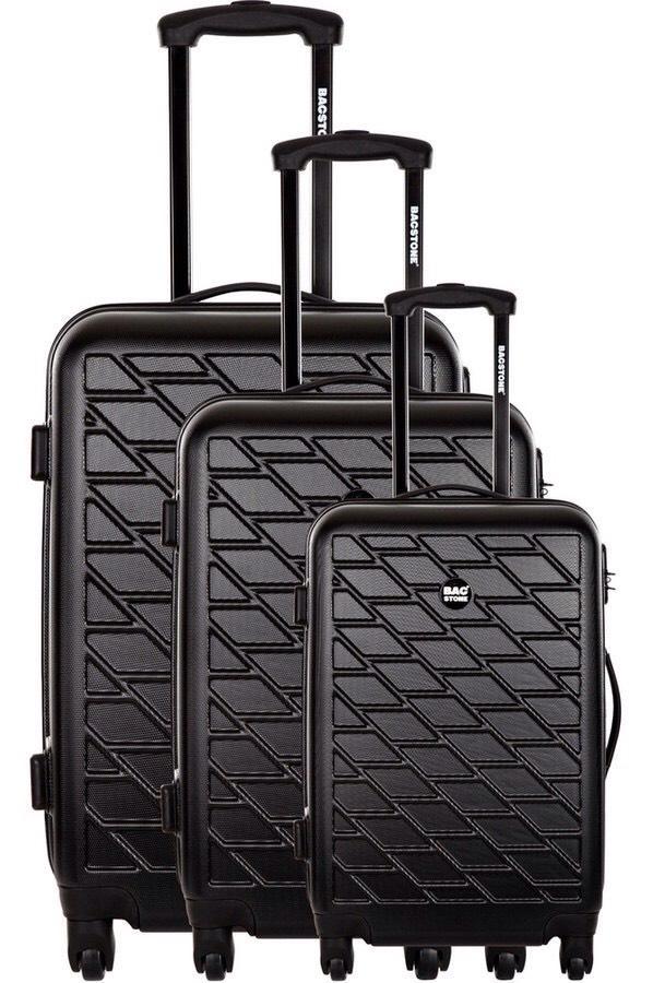 Sélection de bagages en promotion - Ex : set de 3 valises Bag Stone (4 roues, S / M / L)