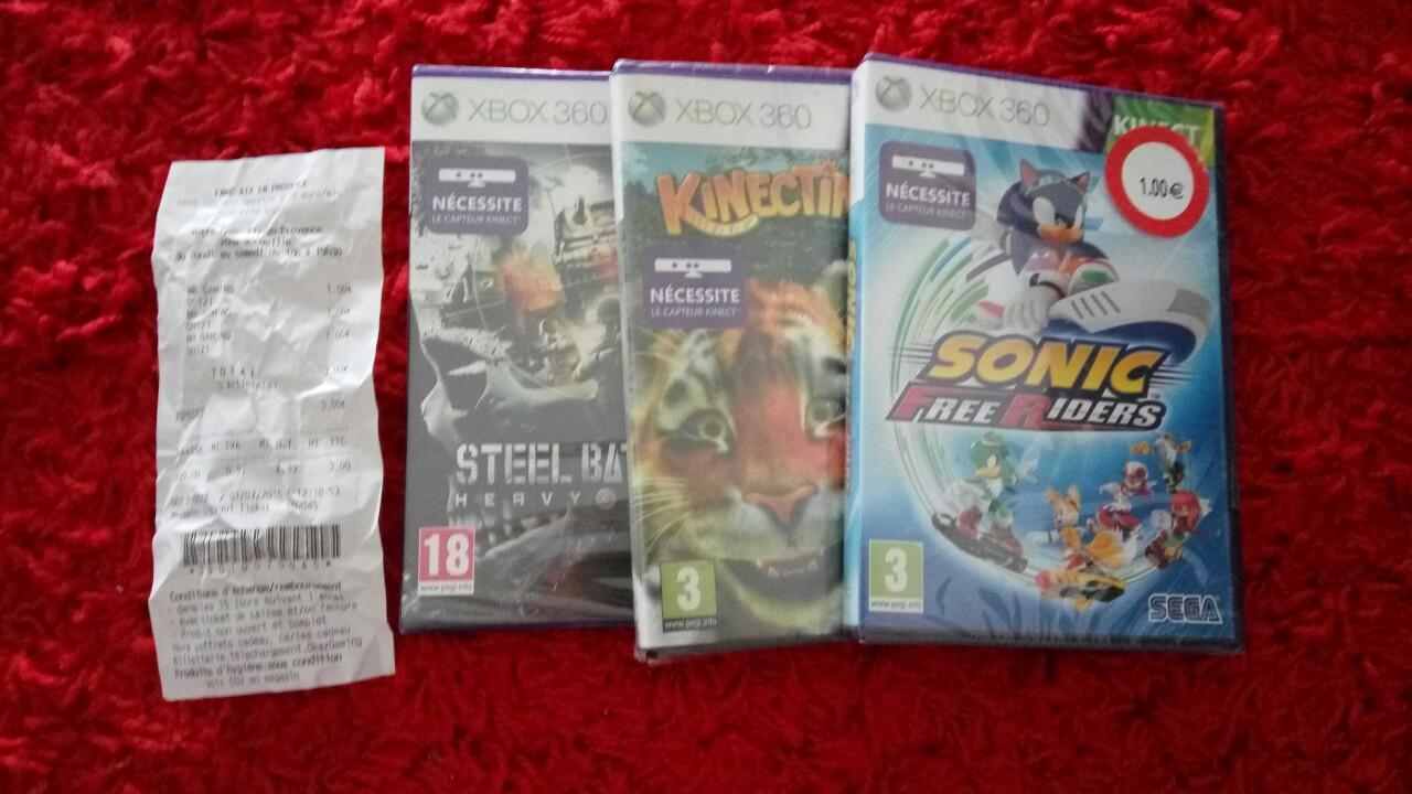 Sélection de jeux en promotion - Ex : Sonic Free Riders (kinect) sur Xbox 360