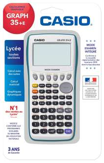 Calculatrice graphique USB Casio Graph +35 E avec mode examen (Via ODR 15€)