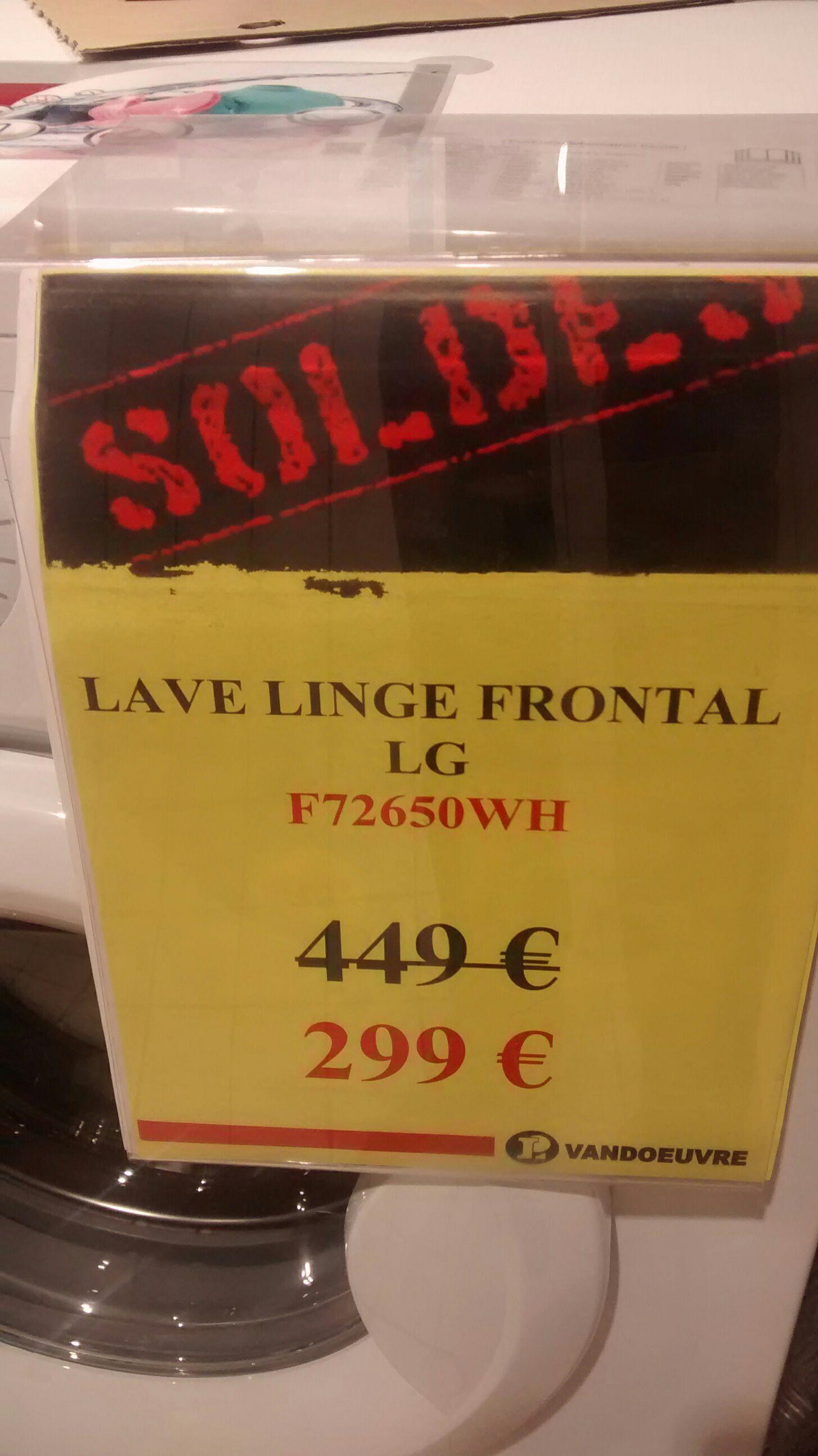 Lave linge frontal LG F72650WH - 7 Kg