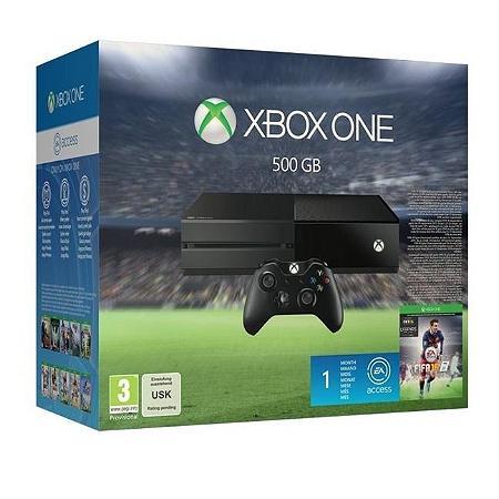 Pack Console Microsoft Xbox One 500Go + Fifa 16