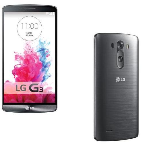 Smartphone LG G3, 16 Go, Noir Métallique