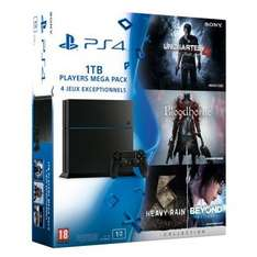 Pack console Sony PS4 (1 To) + Bloodborne + The Heavy Rain & Beyond: Two Souls Collection + Uncharted 4: A Thief's End