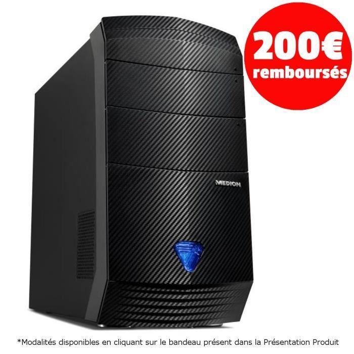 PC fixe Medion Akoya P5201F - i5-6400, RAM 8 Go, SSHD 1 To + 8 Go, GTX 970 (via ODR de 200€)