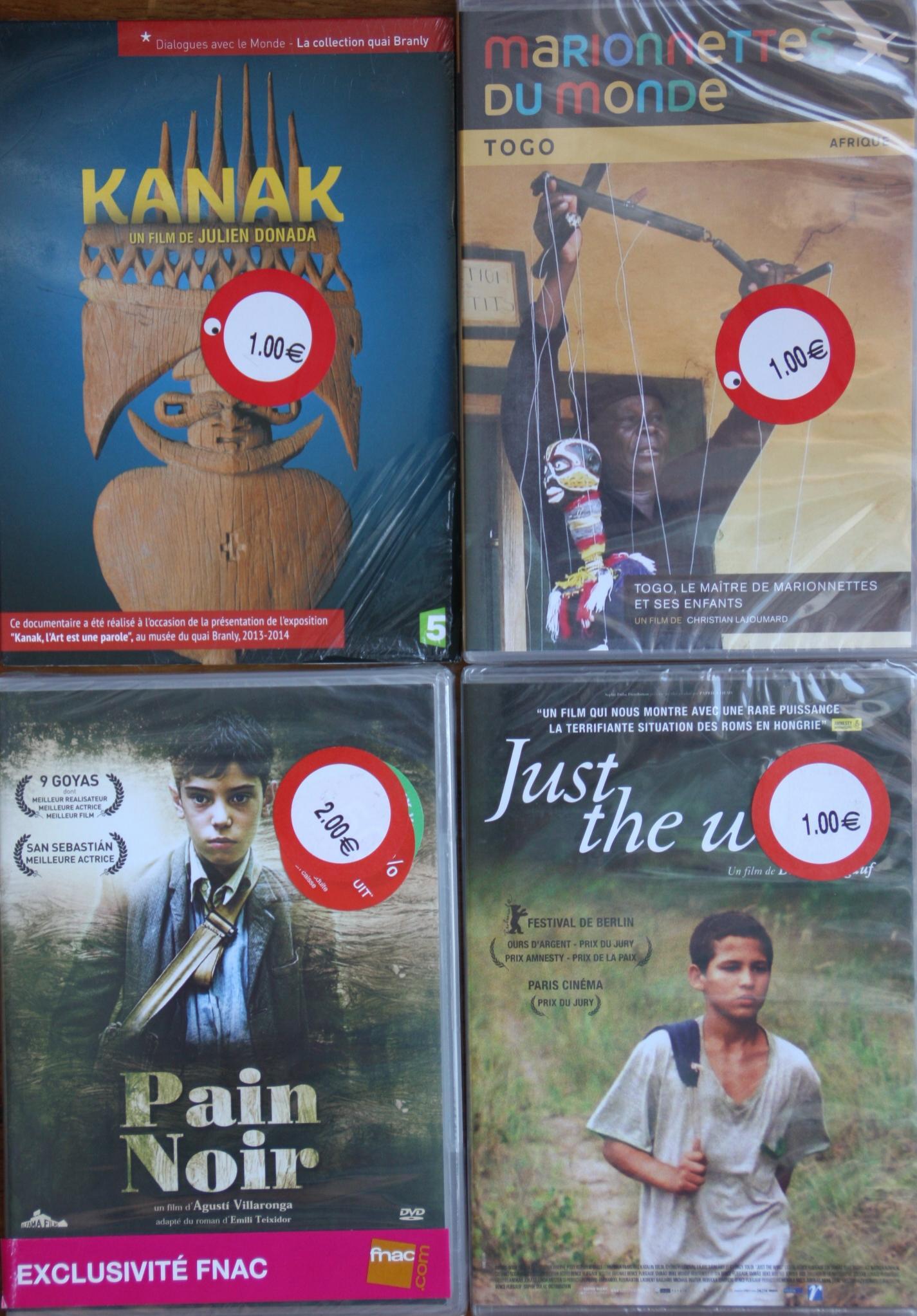 Sélection de DVDs de films et documentaires à 1€ - Ex : DVD Marionnettes du monde Togo