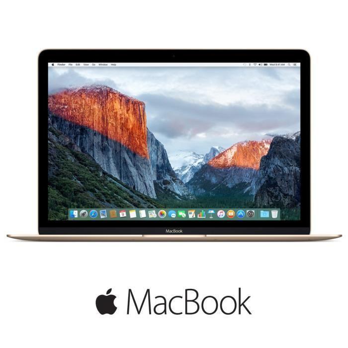 """PC portable 12"""" Apple MacBook MK4N2F/A (M-5Y51, 8 Go de RAM, 512 Go en SSD)"""