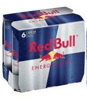 Boisson énergisante Red Bull 6 x 25cl (via 50% sur carte fidélité)