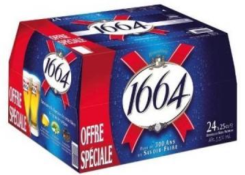Pack de bières 1664 - 24x25 cl (via BDR)