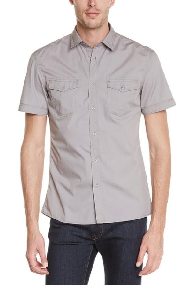 [Premium] Chemise à manche courtes Celio Balarmy grise (Taille S ajustée)