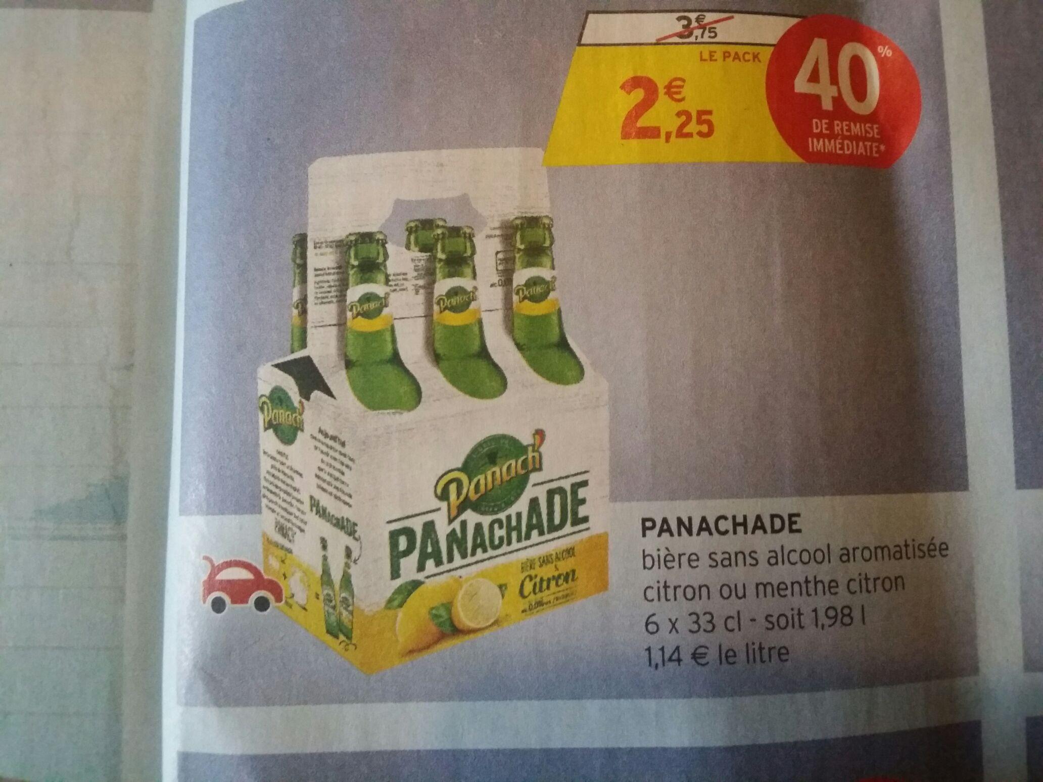 Pack de 6 bières sans alcool Panachade de Panach' - 6x33cl