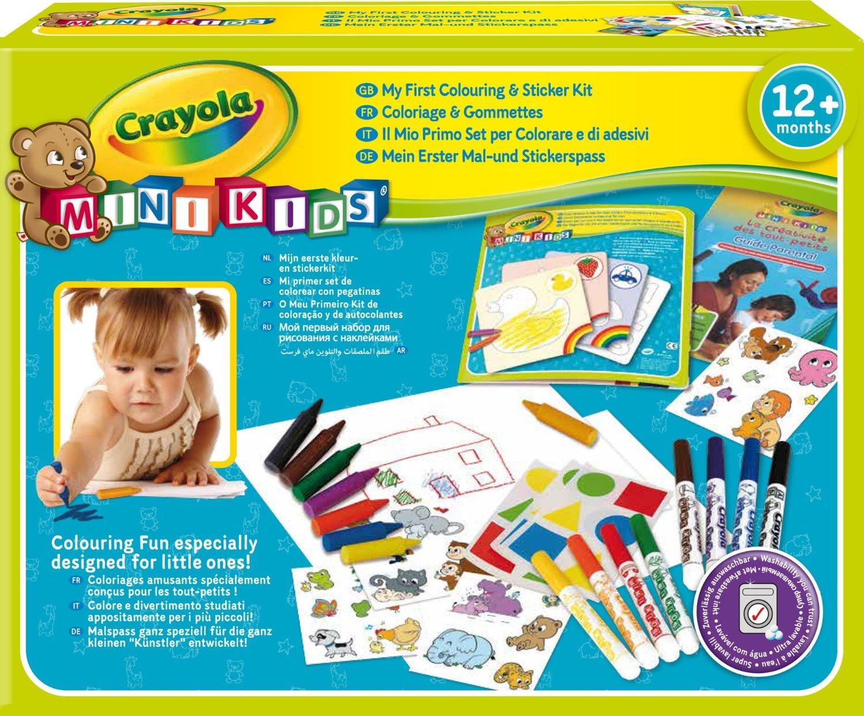 [Premium] Kit de Loisir Créatif Crayola Mini Kids - Coloriage et Gommettes