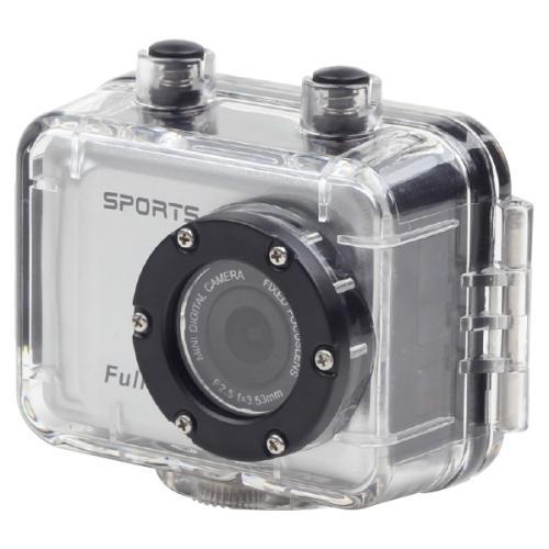 Caméra sportive - FullHD 1080p, boitier étanche et résistant, divers accessoires pour montage
