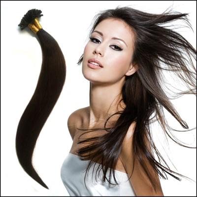 Pack de 100 Extensions de cheveux Raides -- Kératine / Pose à Chaud 100 % Naturelles