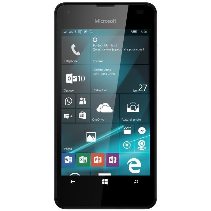 "Smartphone 4.7"" Microsoft Lumia 550 - noir (via le site mobile + ODR de 30€)"