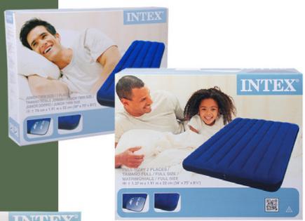 Matelas gonflable Intex - 2 personnes à 11.95€ ou 1 personne