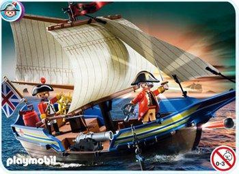 50% de réduction sur une sélection de jouets Playmobil - Ex : Navire des soldats britanniques (5140)