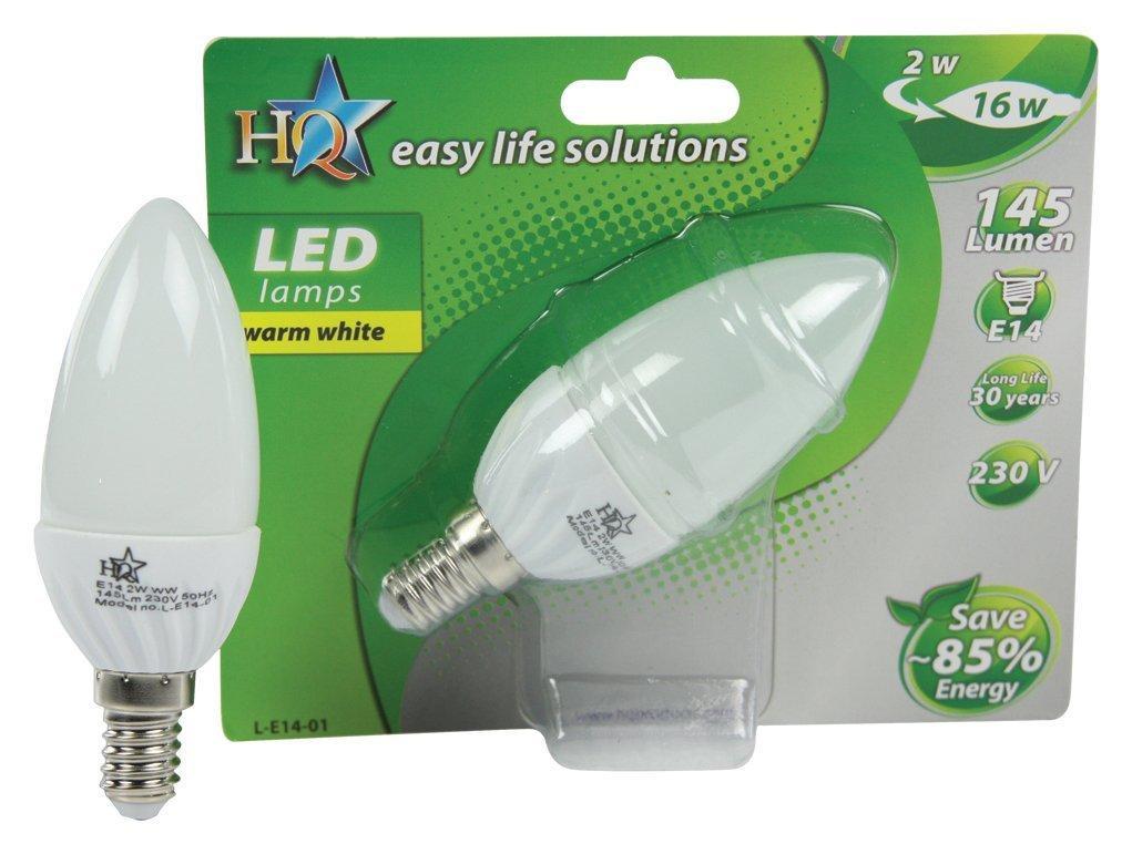 [Panier Plus] Ampoule LED 3 W Argent HQ L-E14-01 , Blanc (Classe énergétique A)