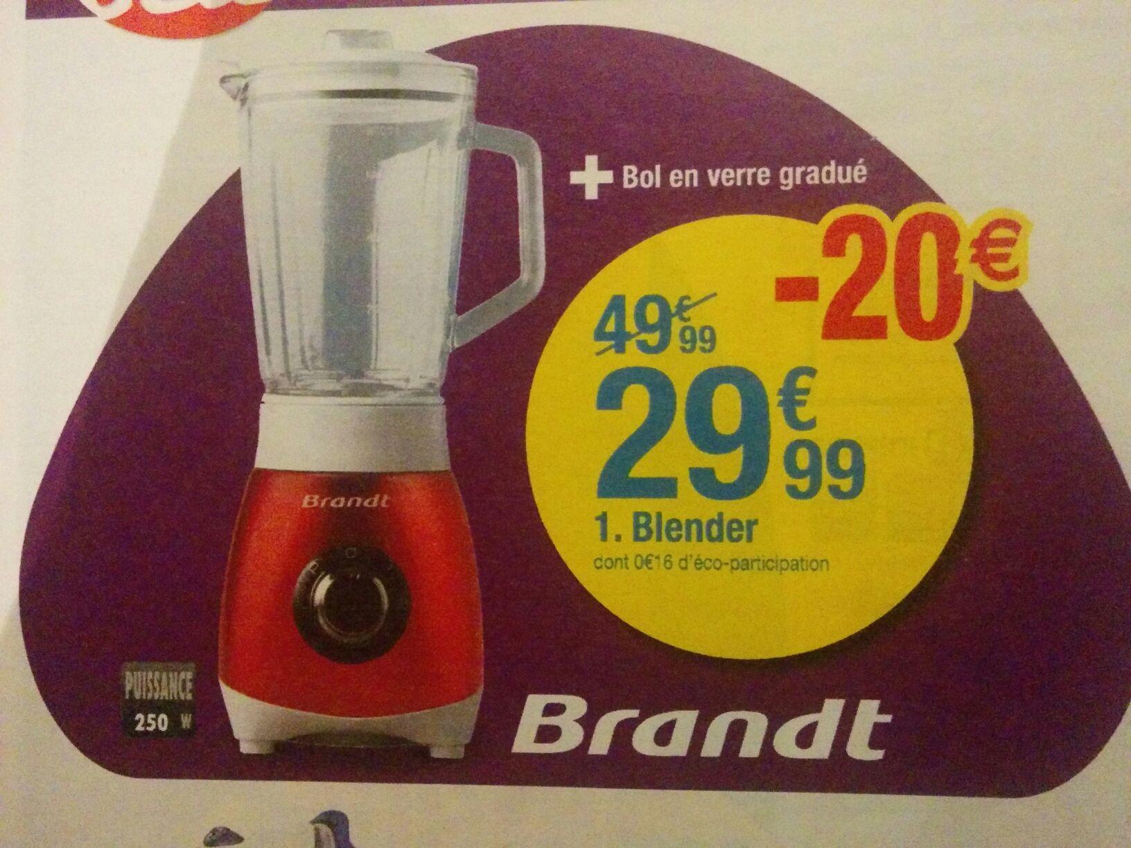 Blender Brandt BLE250R + Bol en verre gradué