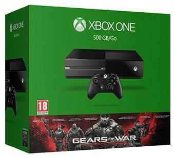 Console Microsoft Xbox One - 500 Go + Gears of War: Ultimate Edition (dématérialisé) + Forza Motorsport 6 + abonnement Xbox Live (3 mois) + carte cadeau de 25 CHF (23.05€)