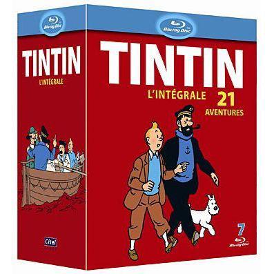 Coffret Blu-Ray Tintin l'intégrale, 21 aventures