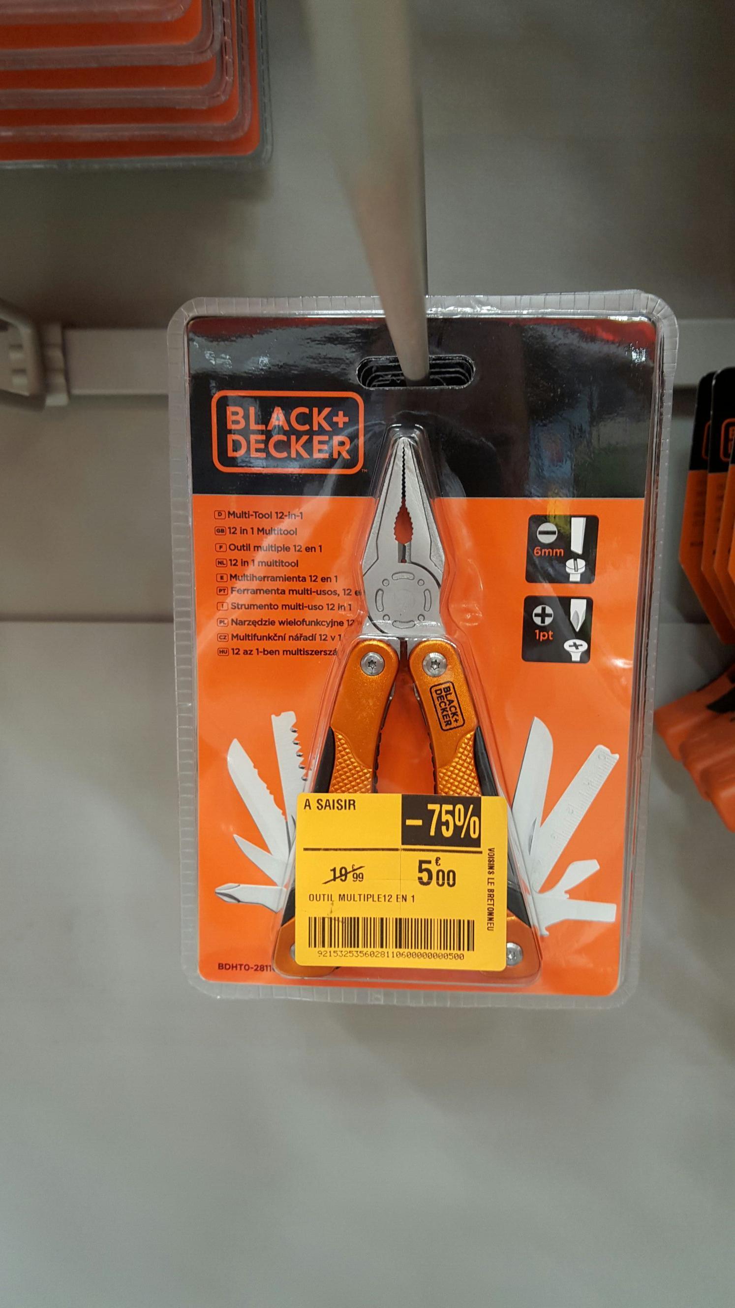 Sélection d'outils Black & Decker en promo - Ex : Outil multiple 12 en 1 Black & Decker