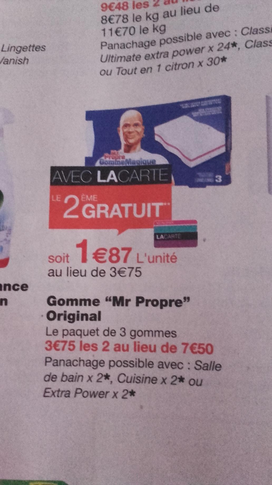 Lot de 2 Gommes Mr Propre (Via carte de fidélité + BDR)