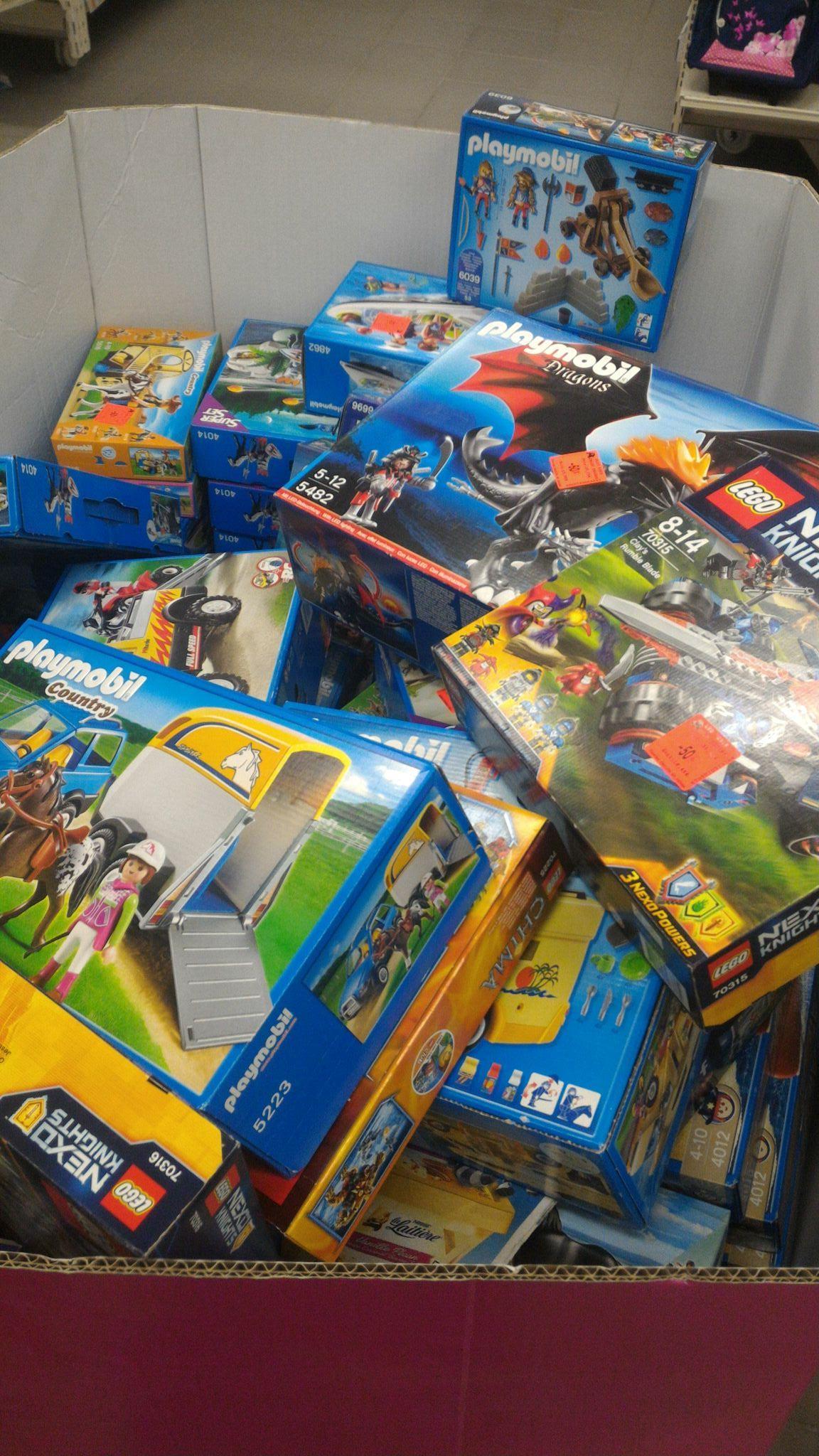 70% de réduction sur tous les Playmobil et Lego