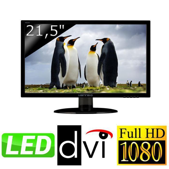 """Ecran PC LED 21.5"""" HANNS.G HE225DPB Full HD LED"""