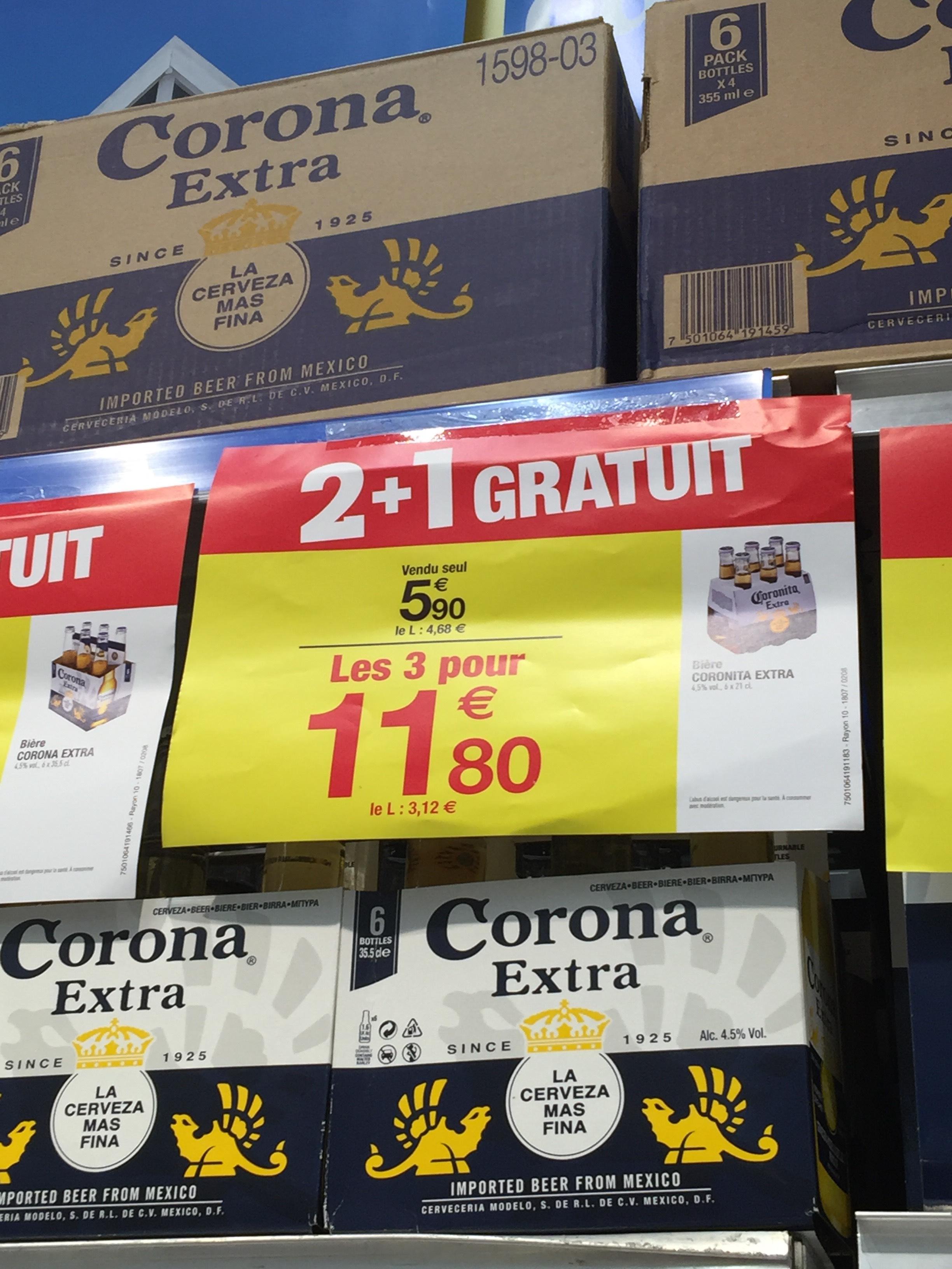 3 Packs de 6 bières Coronita Extra - 18x33cl