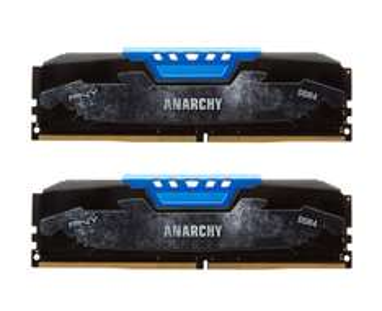 Kit RAM PNY Anarchy CL15 DDR4 2133MHz (PC4-17000) 16Go (2x 8Go) Bleu