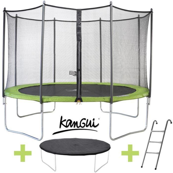 [Cdiscount à Volonté] Trampoline Kangui Twin Duo - vert (365 cm + accessoires)