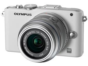 Appareil Photo Hybride Olympus E-PL3 + Objectif Olympus M Zuiko Digital ED 14 - 42 mm f/3.5 - 5.6 II R Blanc