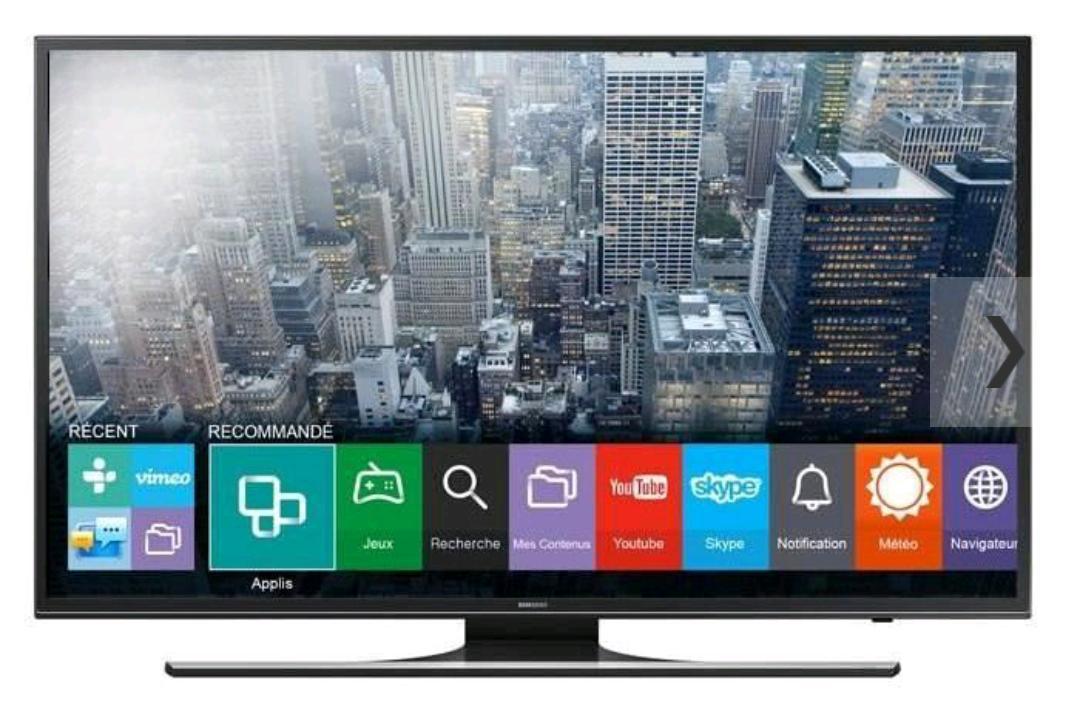 "TV LED 40"" Samsung UE40JU6400 - UHD 4K, Smart TV"