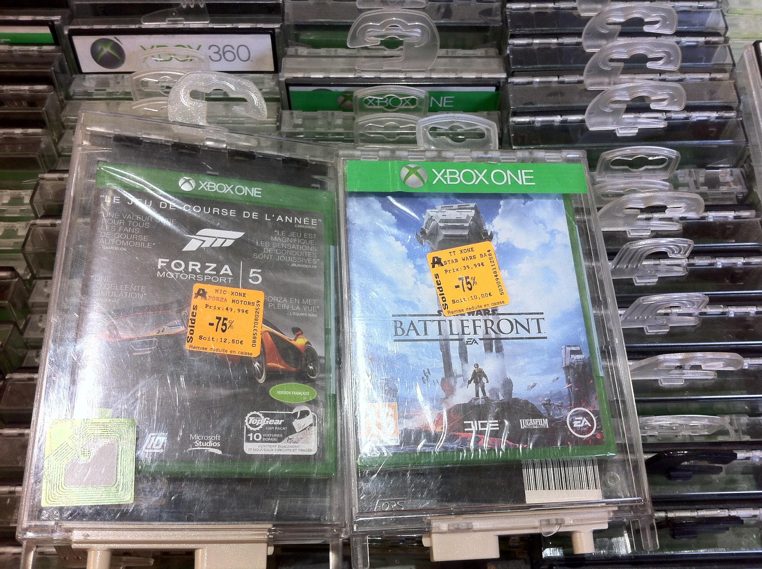 Sélection de jeux vidéo en promotion - Ex : Star Wars Battlefront sur Xbox One